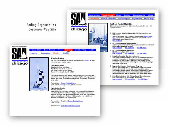 Sailing Organization Web Site Design